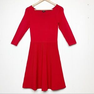 Ann Taylor cherry red sweater dress